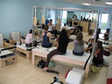 a continuing education session at Pilates of Boca