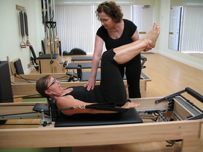a private Pilates lesson